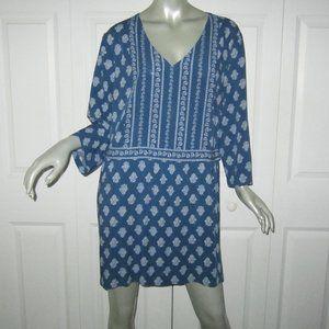 """J. JILL Blue & White Pattern """"Seaside"""" Dress New"""